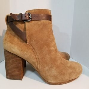 Madewell Aimee Buckle Strap Ankle Boot - Size 8.5